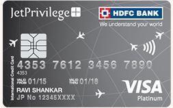 Jet Privilege HDFC Bank Platinum Credit Card